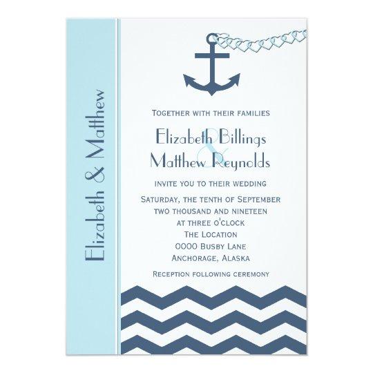 Nautical Themed Wedding Invitations: Nautical Themed Wedding Invitations Blue