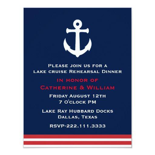 Nautical Themed Wedding Rehearsal Dinner 4 25x5 5 Paper