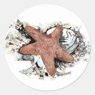 Nautical Themes Round Sticker