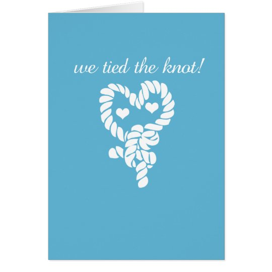 Nautical Tie the Knot Blue Wedding Thank You Cards