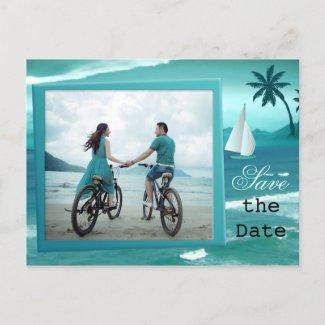 Nautical Tropical Ocean Save the Date Postcard