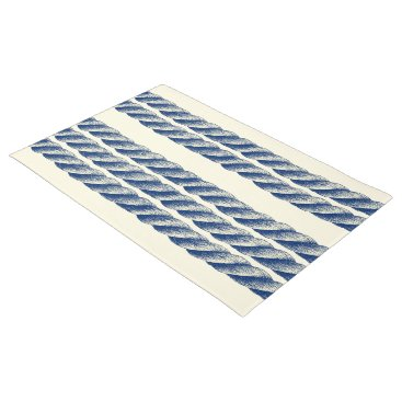 Beach Themed Nautical Twisted Sisal Rope Stripes Pattern Doormat