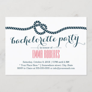 Nautical Bachelorette Party Bachelorette party invitation Preppy Invitation Sail boat invitation Anchor bachelorette invitation