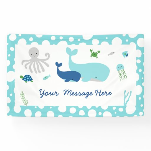Nautical Under The Sea Baby Shower Banner