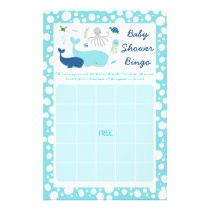Nautical Under The Sea Baby Shower Bingo Game Flyer