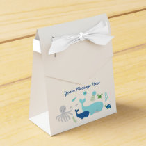 Nautical Under The Sea Baby Shower Favor Box