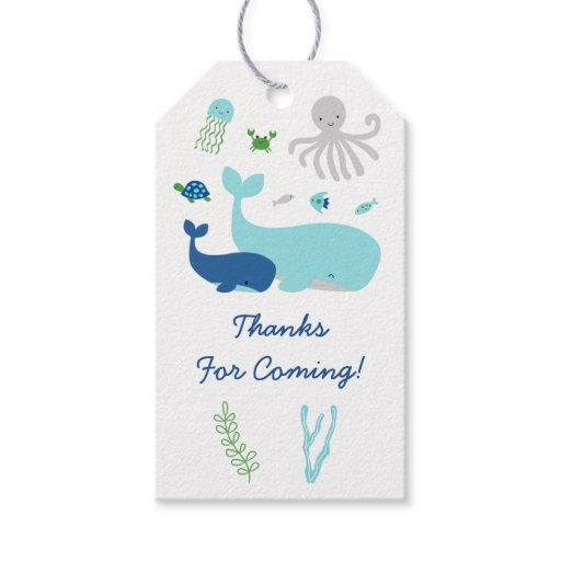 Nautical Under The Sea Baby Shower Gift Tags