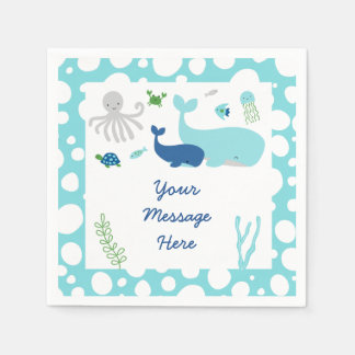 Nautical Under The Sea Baby Shower Paper Napkin