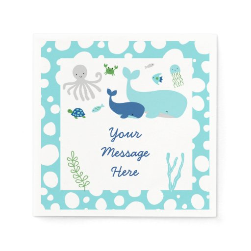 Nautical Under The Sea Baby Shower Paper Napkin
