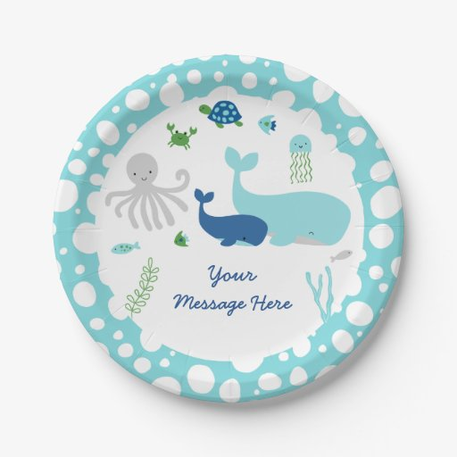Nautical Under The Sea Baby Shower Paper Plate