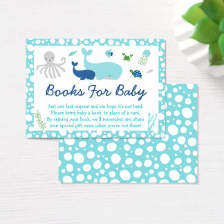 Nautical Under The Sea Book Request Cards