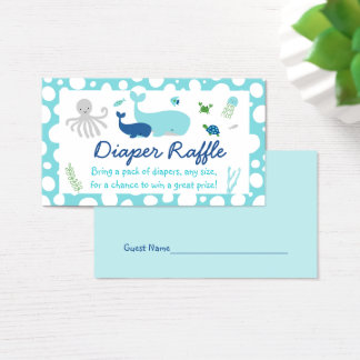 Nautical Under The Sea Diaper Raffle Tickets