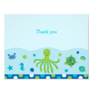 Nautical Under the Sea Flat Thank You Note Cards