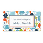 Nautical, Under the Sea Personalized Book Shipping Label