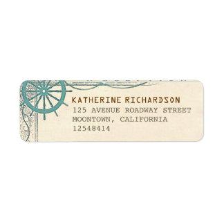Nautical vintage address labels