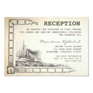 nautical vintage boat reception cards