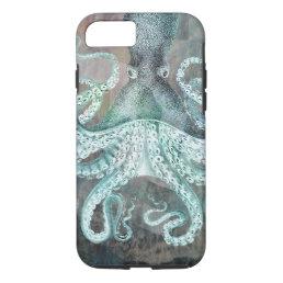 Nautical Vintage Octopus iPhone 8/7 Case