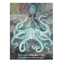 Nautical Vintage Octopus Postcard