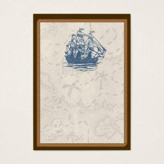 Nautical Vintage Ship Treasure Map Business Card
