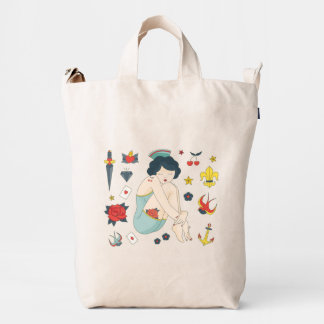 Nautical Vintage Tattoo Collection. Duck Bag