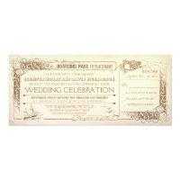 Nautical Vintage Wedding Invitation Boarding Pass (<em>$2.57</em>)