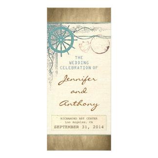 nautical vintage wedding programs rack cards