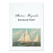 Nautical Vintage Yachts Racing #1 Card