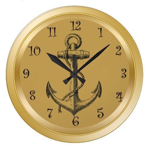 Nautical wall clocks for Seashell wall clock
