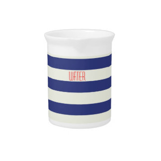 Nautical Water Pitcher