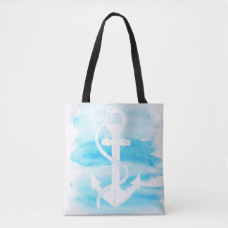 Nautical - Watercolor Anchor (1) - All Options Tote Bag