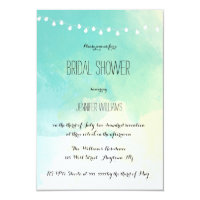 Nautical watercolor bridal shower invitations