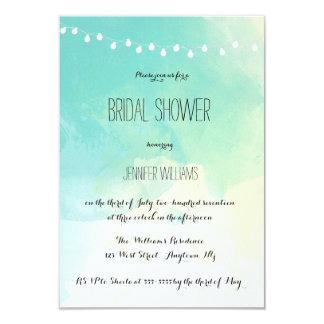 Nautical watercolor bridal shower invitations
