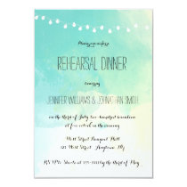 Nautical watercolor rehearsal dinner invitations