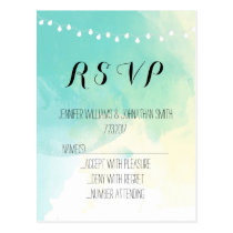 Nautical watercolor RSVP cards