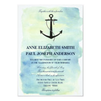 Nautical Watercolor Wedding Invitation