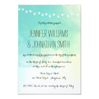 Nautical watercolor wedding invitations