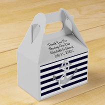 Nautical Wedding Anchor Modern Favor Boxes