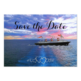 Nautical Wedding Cruise | Save the Date Ocean Sky Card
