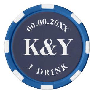 Nautical Wedding Custom Drink Token Poker Chips at Zazzle