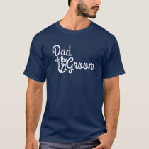 Nautical Wedding Dad of the Groom with Anchor T-Shirt
