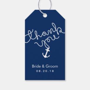 nautical wedding favor anchor navy blue thank you gift tags