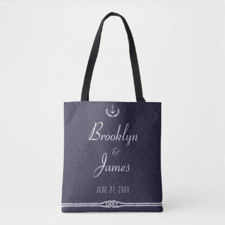 Nautical Wedding Gift Bags With Anchors