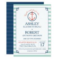 Nautical Wedding Invitation - Anchor