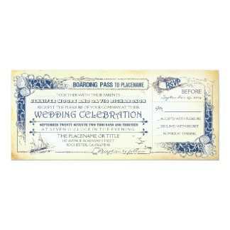 Boarding Pass Wedding Invitations & Announcements | Zazzle