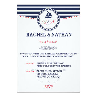Awesome Nautical Wedding Invitation   Tying The Knot