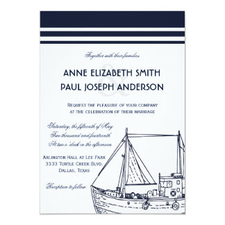 Nautical Wedding Invitation XII