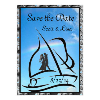 """Nautical Wedding Invitations and Save the Date 5.5"""" X 7.5"""" Invitation Card"""