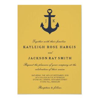 "Nautical Wedding Invitations | Wedding 5"" X 7"" Invitation Card"