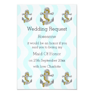 Nautical Wedding Maid Of Honor Request Card