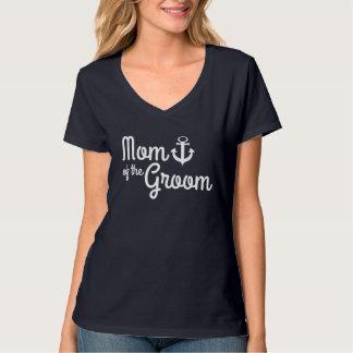 Nautical Wedding Mom of Groom with Anchor T-Shirt